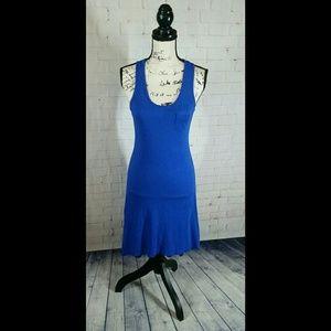 Express Small Racerback Hi-Lo Dress Royal Blue